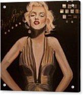 Marilyn Monroe  Acrylic Print by Mikayla Ziegler