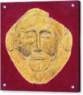Mask Of Agamemnon Acrylic Print