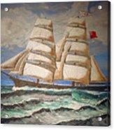 2 Master Tall Ship Acrylic Print