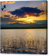 Mcintosh Lake Sunset Acrylic Print