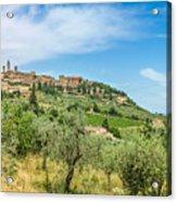 Medieval Town Of San Gimignano, Tuscany, Italy Acrylic Print