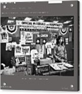 Merchandise George Mcgovern For President Democratic Nat'l Convention Miami Beach Florida 1972 Acrylic Print