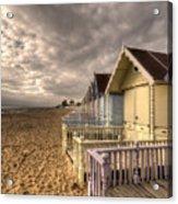 Mersea Island Beach Huts Acrylic Print