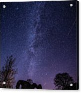 Milky Way Over The Ruins Of Strata Florida Abbey, Wales Uk Acrylic Print