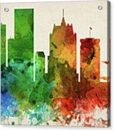 Milwaukee Skyline Panorama Uswiml-pa03 Acrylic Print