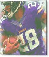 Minnesota Vikings Adrian Peterson Acrylic Print