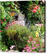 Mission Garden Acrylic Print