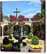 Mission Inn Chapel Courtyard Acrylic Print