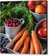 Mix Of Fruits, Vegetables And Berries Acrylic Print