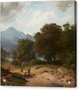 Mountainous Landscape With Shepherds Acrylic Print