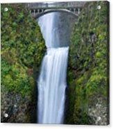 Multnomah Falls Waterfall Oregon Columbia River Gorge Acrylic Print by Dustin K Ryan