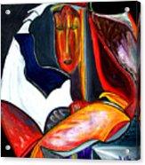 Mystery Woman Acrylic Print by Pilar  Martinez-Byrne