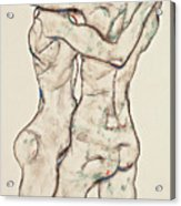Naked Girls Embracing Acrylic Print