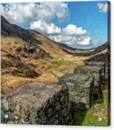 Nant Ffrancon Pass Snowdonia Acrylic Print