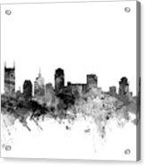 Nashville Tennessee Skyline Acrylic Print