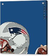 New England Patriots Original Typography Football Team Acrylic Print