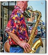 New Orleans Jazz Sax  Acrylic Print