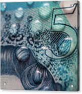 New Uk Five Pound Note Acrylic Print