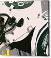 New York Jets Football Team And Original Typography Acrylic Print