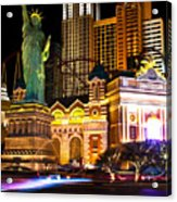 New York New York Casino Acrylic Print