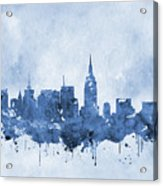 New York Skyline-blue Acrylic Print