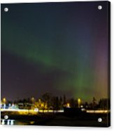 Northern Lights Aurora Borealis In Northern Europe Acrylic Print