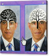 Obama Trees Of Knowledge Acrylic Print