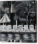 Ocean Palms  Acrylic Print