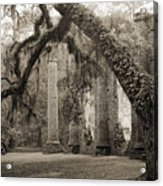 Old Sheldon Church Ruins Acrylic Print