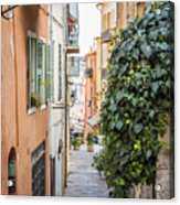 Old Street In Villefranche-sur-mer Acrylic Print