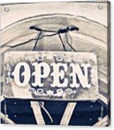 Open Sign Acrylic Print