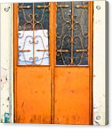 Orange Door Acrylic Print