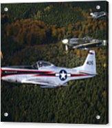 P-51 Cavalier Mustang With Supermarine Acrylic Print