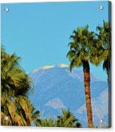 Palm Springs Mountains Acrylic Print