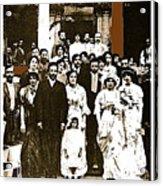 Pancho Villa's Wedding To Luz Corral On May 29 1911-2013 Acrylic Print