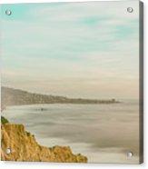 Panoramic Sunset Overtorrey Pines, San Diego Beach, California Acrylic Print