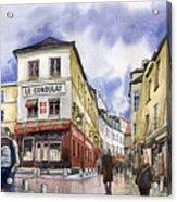 Paris Montmartre  Acrylic Print by Yuriy  Shevchuk