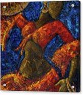 Passion Acrylic Print by Oscar Ortiz