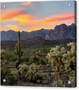 Pastel Desert Skies  Acrylic Print