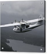 Pby Catalina Vintage Flying Boat Acrylic Print by Daniel Karlsson