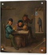 Peasants In A Tavern Acrylic Print