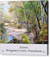 Pennsylvania Autumn Acrylic Print