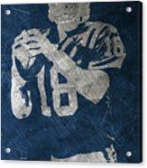 Peyton Manning Colts Acrylic Print