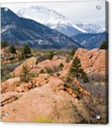 Pikes Peak From Red Rocks Canyon Acrylic Print