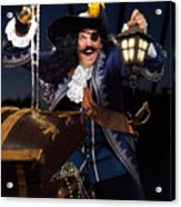 Pirate With A Treasure Chest Acrylic Print by Oleksiy Maksymenko