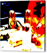 Pop Art Of .45 Cal Bullets Comming Out Of Pill Bottle Acrylic Print