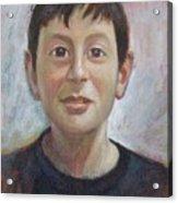 Portrait Of A Boy Acrylic Print by George Siaba