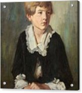 Portrait Of A Seated Child Acrylic Print