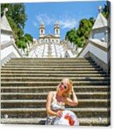 Portugal Woman Tourist Acrylic Print