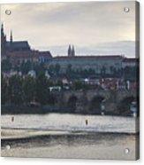 Prague Castle And Charles Bridge Acrylic Print